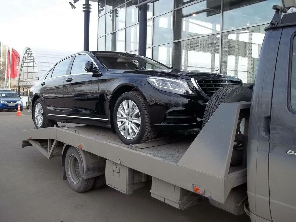 Доставка автомобиля Мерседес S-class W222 из автосалона